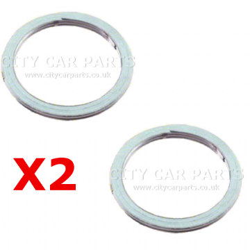 2 X CHEVROLET MATIZ PETROL 0.8 1.0 HATCHBACK MID SECTION CATALYTIC EXHAUST GASKET